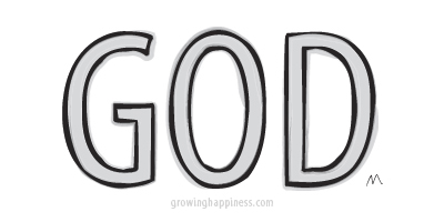 Illustration of the word God