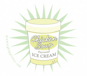 Chicken soup ice cream?