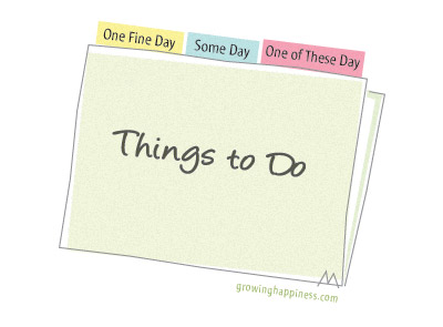 Things to do on a fine day list in a folder