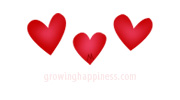 Red hearts - love, hugs and kisses