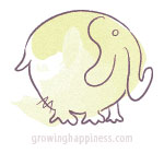 Happy, round elephant