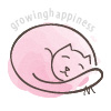 Cute sleeping cat illustration